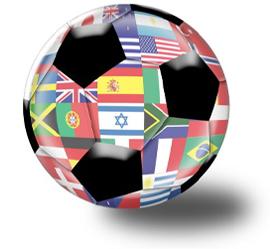 Fodbold med alverdens flag